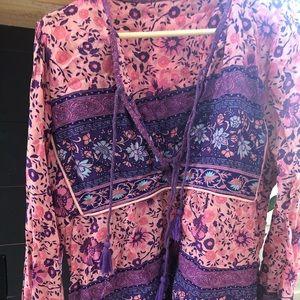 Spell folktown blouse size L